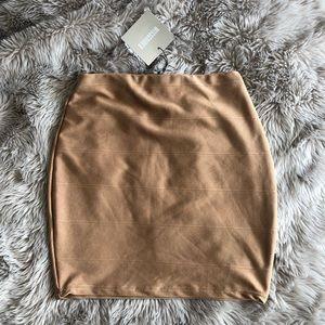Missguided Camel Bandage Style Skirt